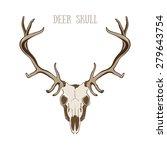 deer skull   Shutterstock .eps vector #279643754
