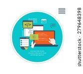 set of flat design vector... | Shutterstock .eps vector #279648398