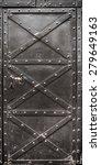 Old Iron Door Reinforced With...
