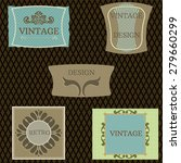 vintage labels set.  retro... | Shutterstock .eps vector #279660299