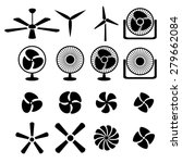 set of fans and propellers