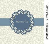 elegant invitation with round... | Shutterstock .eps vector #279664604