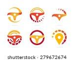 steering wheel. vector logo... | Shutterstock .eps vector #279672674