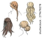 set of different hairstyles.... | Shutterstock . vector #279678278
