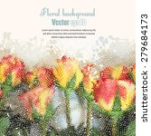 background with floral seamless ... | Shutterstock .eps vector #279684173