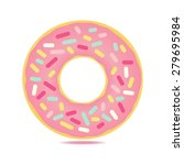 Sweet  Donut Card With Pink...