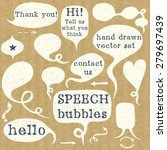 set of hand drawn speech... | Shutterstock .eps vector #279697439