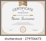 vector certificate template. | Shutterstock .eps vector #279706673