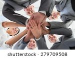 business team standing hands... | Shutterstock . vector #279709508