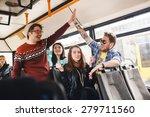 transport. people in the bus. ... | Shutterstock . vector #279711560