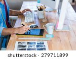 businessman working with... | Shutterstock . vector #279711899