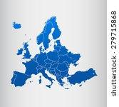 map of europe | Shutterstock .eps vector #279715868
