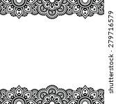 mehndi  indian henna tattoo... | Shutterstock .eps vector #279716579