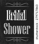 retro bridal shower ...   Shutterstock .eps vector #279717863