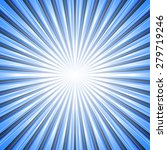 sky blue sunburst background.... | Shutterstock .eps vector #279719246