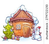 vector illustration of winter... | Shutterstock .eps vector #279722150