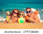 happy family playing at the... | Shutterstock . vector #279728684