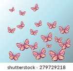 Colorful Butterfly Background....