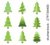 different style of pine tree... | Shutterstock .eps vector #279730400