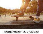 skateboader hands tying... | Shutterstock . vector #279732920