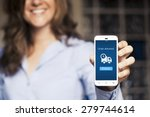 order delivered message on a... | Shutterstock . vector #279744614