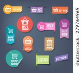 collection of sales buttons ... | Shutterstock .eps vector #279764969