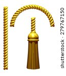golden tassel with rope | Shutterstock . vector #279767150