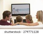 family watching widescreen tv... | Shutterstock . vector #279771128