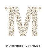 floral letter. ornament font. | Shutterstock .eps vector #27978296