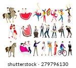 People Dancing Horse Animal...