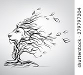 the head of a lion in the form... | Shutterstock .eps vector #279797204