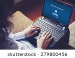 secure payment on the screen.... | Shutterstock . vector #279800456