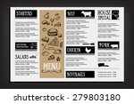 restaurant cafe menu  template... | Shutterstock .eps vector #279803180