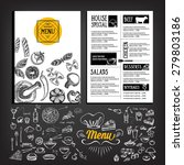 restaurant cafe menu  template... | Shutterstock .eps vector #279803186