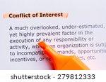 conflict of interest  word...   Shutterstock . vector #279812333