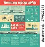 railway infographic. set... | Shutterstock .eps vector #279823193