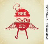 vintage bbq grill party | Shutterstock .eps vector #279823658