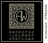 stylish  graceful monogram  ...   Shutterstock .eps vector #279826460