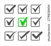 validation icons set of nine... | Shutterstock . vector #279828404