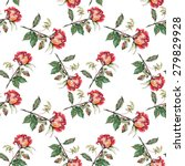 red rose  pattern seamless ... | Shutterstock . vector #279829928
