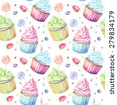 sweet delicious watercolor... | Shutterstock .eps vector #279834179