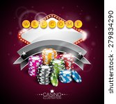 vector illustration on a casino ... | Shutterstock .eps vector #279834290