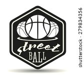 streetball icon logo in vintage ... | Shutterstock .eps vector #279834356