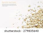oat flakes on white background   Shutterstock . vector #279835640