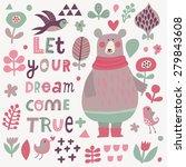 let your dream come true  ...   Shutterstock .eps vector #279843608
