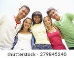 group of teenage friends having ... | Shutterstock . vector #279845240
