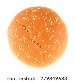 hamburger bun on a white... | Shutterstock . vector #279849683