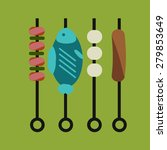 vector grill food | Shutterstock .eps vector #279853649