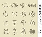 logistics line icon set | Shutterstock .eps vector #279853880