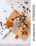 fudge candy  coffee beans and...   Shutterstock . vector #279858203